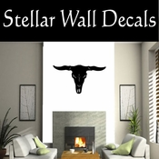 Western Longhorn Skull NS006 Vinyl Decal Wall Art Sticker Mural SWD