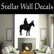 Western Pack Mule NS001 Vinyl Decal Wall Art Sticker Mural SWD