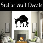 Western Pack Mule NS002 Vinyl Decal Wall Art Sticker Mural SWD