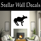Western Pack Mule NS003 Vinyl Decal Wall Art Sticker Mural SWD