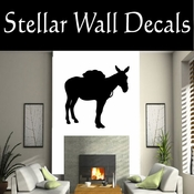 Western Pack Mule NS004 Vinyl Decal Wall Art Sticker Mural SWD