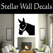 Western Pack Mule NS005 Vinyl Decal Wall Art Sticker Mural SWD