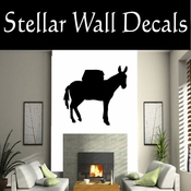 Western Pack Mule NS006 Vinyl Decal Wall Art Sticker Mural SWD