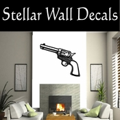 Western Pistol NS001 Vinyl Decal Wall Art Sticker Mural SWD