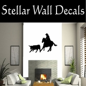 Western Rodeo Roper NS001 Vinyl Decal Wall Art Sticker Mural SWD