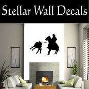 Western Rodeo Roper NS002 Vinyl Decal Wall Art Sticker Mural SWD