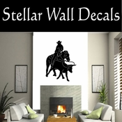 Western Rodeo Roper NS003 Vinyl Decal Wall Art Sticker Mural SWD