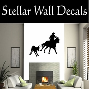 Western Rodeo Roper NS004 Vinyl Decal Wall Art Sticker Mural SWD