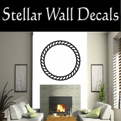 Western Rope Ring NS001 Vinyl Decal Wall Art Sticker Mural SWD