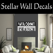 Western Welcome NS001 Vinyl Decal Wall Art Sticker Mural SWD