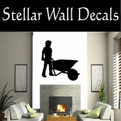 Wheelbarrow NS001 Vinyl Decal Wall Art Sticker Mural SWD