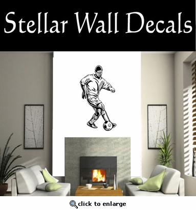 Soccer Futball Running Kicking Kick Score Goal Goalie Players CDS025 Sports Vinyl Wall Decal - Wall Mural - Car Sticker  SWD
