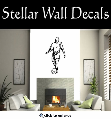 Soccer Futball Running Kicking Kick Score Goal Goalie Players CDS055 Sports Vinyl Wall Decal - Wall Mural - Car Sticker  SWD