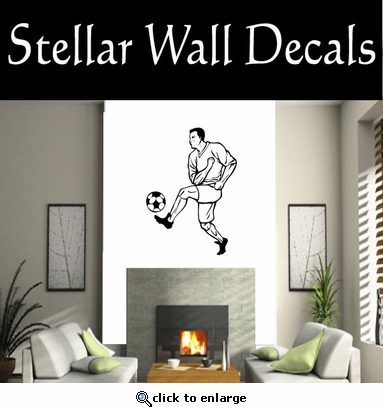 Soccer Futball Running Kicking Kick Score Goal Goalie Players CDS056 Sport Sports Wall or Car Vinyl Decal Sticker Mural