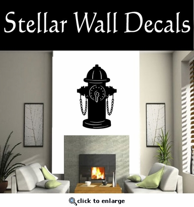 Fire Hydrant NS003 Vinyl Decal Wall Art Sticker Mural SWD