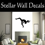 Gymnastics NS014 Vinyl Decal Wall Art Sticker Mural SWD