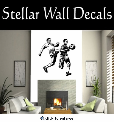 Soccer Futball Running Kicking Kick Score Goal Goalie Players CDS094 Sports Vinyl Wall Decal - Wall Mural - Car Sticker  SWD
