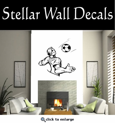 Soccer Futball Running Kicking Kick Score Goal Goalie Players CDS125 Sport Sports Wall or Car Vinyl Decal Sticker Mural