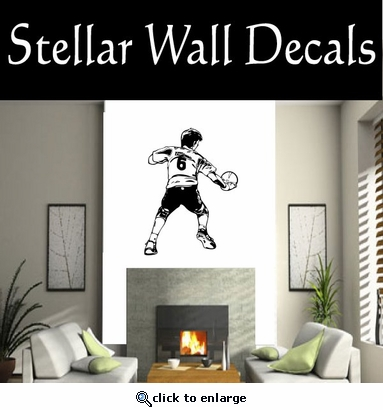 Soccer Futball Running Kicking Kick Score Goal Goalie Players CDS170 Sport Sports Wall or Car Vinyl Decal Sticker Mural