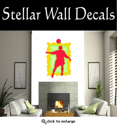 Soccer Futball Running Kicking Kick Score Goal Goalie Players CDSCOLOR061 Sports Vinyl Wall Decal - Wall Mural - Car Sticker  SWD