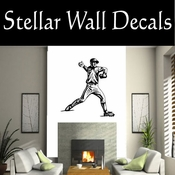 Baseball Throwing Hitting Pitching Batting Catching Sliding Swinging CDS007 Sport Sports Wall or Car Vinyl Decal Sticker Mural SWD