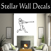 Baseball Throwing Hitting Pitching Batting Catching Sliding Swinging CDS019 Sport Sports Wall or Car Vinyl Decal Sticker Mural SWD