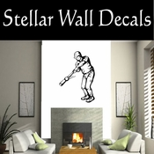 Baseball Throwing Hitting Pitching Batting Catching Sliding Swinging CDS071 Sport Sports Wall or Car Vinyl Decal Sticker Mural SWD