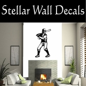 Baseball Throwing Hitting Pitching Batting Catching Sliding Swinging CDS099 Sport Sports Wall or Car Vinyl Decal Sticker Mural SWD