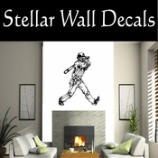 Baseball Throwing Hitting Pitching Batting Catching Sliding Swinging CDS110 Sport Sports Wall or Car Vinyl Decal Sticker Mural SWD