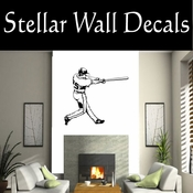 Baseball Throwing Hitting Pitching Batting Catching Sliding Swinging CDS121 Sport Sports Wall or Car Vinyl Decal Sticker Mural SWD
