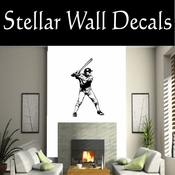 Baseball Throwing Hitting Pitching Batting Catching Sliding Swinging CDS126 Sport Sports Wall or Car Vinyl Decal Sticker Mural SWD