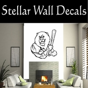 Baseball Mascots Throwing Hitting Pitching Batting Catching Sliding Swinging Throwing Hitting Pitching Batting Catching Sliding Swinging CDS133 Sport Sports Wall or Car Vinyl Decal Sticker Mural SWD