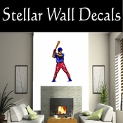 Baseball Throwing Hitting Pitching Batting Catching Sliding Swinging CDSColor062 Sport Sports Wall or Car Vinyl Decal Sticker Mural SWD