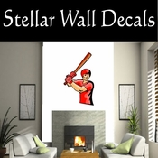 Baseball Throwing Hitting Pitching Batting Catching Sliding Swinging CDSColor074 Sport Sports Wall or Car Vinyl Decal Sticker Mural SWD