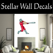 Baseball Throwing Hitting Pitching Batting Catching Sliding Swinging CDSColor082 Sport Sports Wall or Car Vinyl Decal Sticker Mural SWD