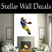 Baseball Throwing Hitting Pitching Batting Catching Sliding Swinging CDSColor172 Sport Sports Wall or Car Vinyl Decal Sticker Mural SWD
