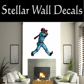 Baseball Throwing Hitting Pitching Batting Catching Sliding Swinging CDSColor173 Sport Sports Wall or Car Vinyl Decal Sticker Mural SWD