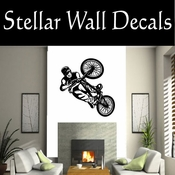BMX Freestly BMX Bike Tricks CDS004 Sport Sports Wall or Car Vinyl Decal Sticker Mural SWD