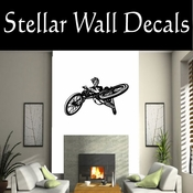 BMX Freestly BMX Bike Tricks CDS012 Sport Sports Wall or Car Vinyl Decal Sticker Mural SWD
