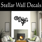 BMX Freestly BMX Bike Tricks CDS015 Sport Sports Wall or Car Vinyl Decal Sticker Mural SWD