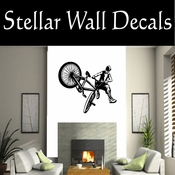 BMX Freestly BMX Bike Tricks CDS016 Sport Sports Wall or Car Vinyl Decal Sticker Mural SWD