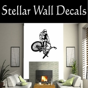 BMX Freestly BMX Bike Tricks CDS019 Sport Sports Wall or Car Vinyl Decal Sticker Mural SWD