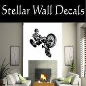 BMX Freestly BMX Bike Tricks CDS021 Sport Sports Wall or Car Vinyl Decal Sticker Mural SWD