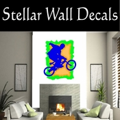 BMX Freestly BMX Bike Tricks CDSColor003 Sport Sports Wall or Car Vinyl Decal Sticker Mural SWD