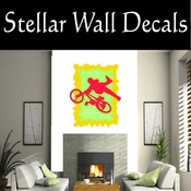 BMX Freestly BMX Bike Tricks CDSColor004 Sport Sports Wall or Car Vinyl Decal Sticker Mural SWD