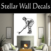 Hockey Players Skating Sticks Slap shot Checking Check Shooting Scoring Goalies Players CDS013 Sport Sports Wall or Car Vinyl Decal Sticker Mural SWD