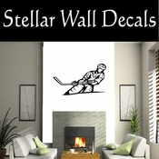 Hockey Players Skating Sticks Slap shot Checking Check Shooting Scoring Goalies Players CDS027 Sport Sports Wall or Car Vinyl Decal Sticker Mural SWD