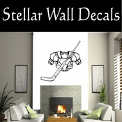 Hockey Gear Goalie Sticks Players Skating Sticks Slap shot Checking Check Shooting Scoring Goalies Players CDS037 Sport Sports Wall or Car Vinyl Decal Sticker Mural SWD