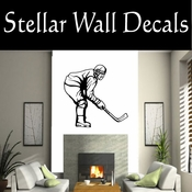 Hockey Players Skating Sticks Slap shot Checking Check Shooting Scoring Goalies Players CDS057 Sport Sports Wall or Car Vinyl Decal Sticker Mural SWD