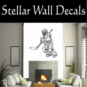 Hockey Players Skating Sticks Slap shot Checking Check Shooting Scoring Goalies Players CDS063 Sport Sports Wall or Car Vinyl Decal Sticker Mural SWD